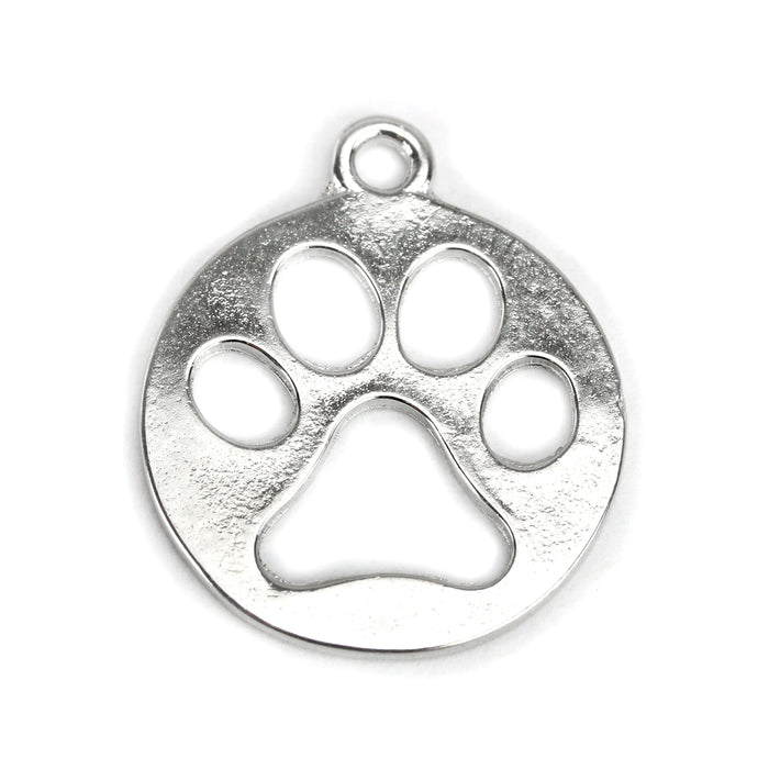 Base Metal Paw Cutout Charm, Pack of 10