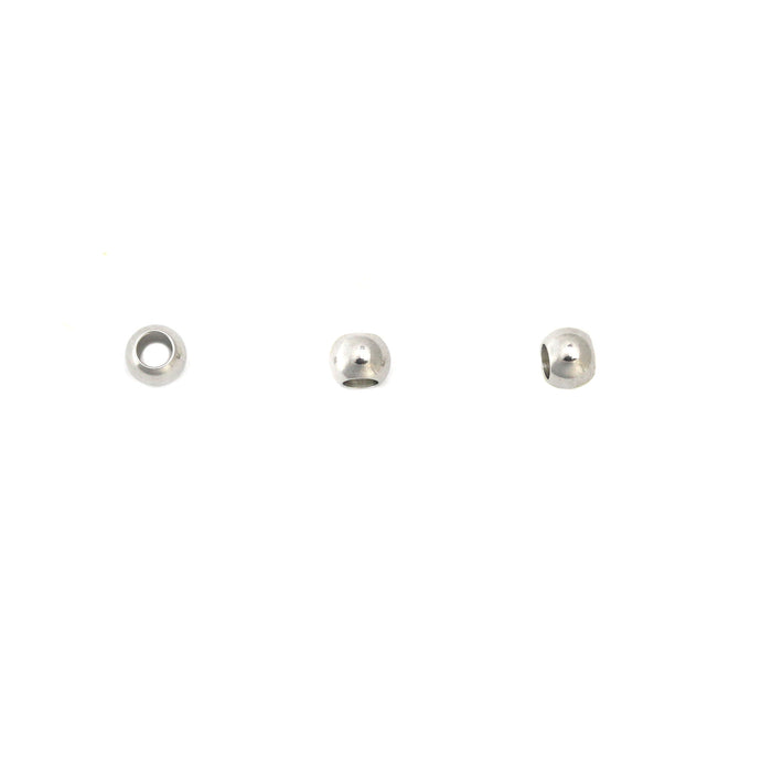 "Stainless Steel Spacer Beads, 4mm (.16"") with 2.1mm (.08) Hole, Pack of 10"