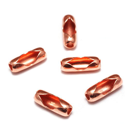 Shiny Copper Ball Chain Clasps / Connectors for 1.5-2mm Chain, Pack of 5