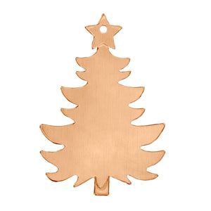 "Metal Stamping Blanks Copper Holiday Tree Ornament  Blank 73mm (2.88"") x 51mm (2""), 14 Gauge"