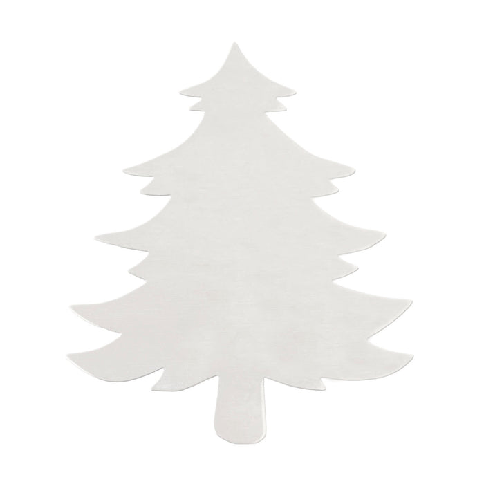 "Aluminum Tree Ornament Blank,  83mm (3.27"") x  71mm (2.8""), 14 Gauge"