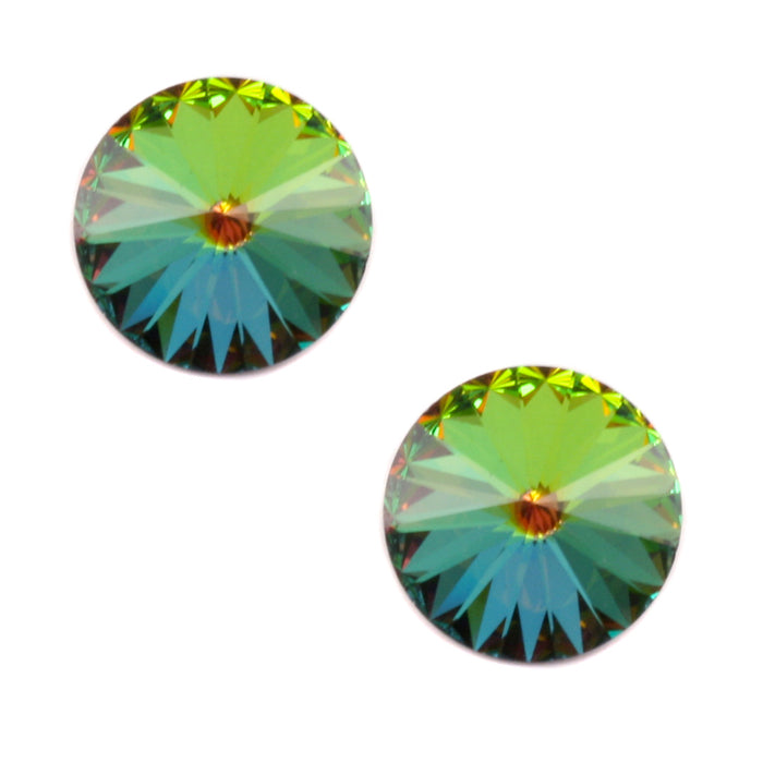 Swarovski Crystal Rivoli Stone - Medium Vitrail 14mm, Pack of 2