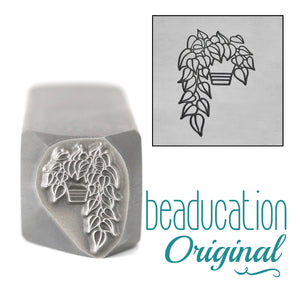 Metal Stamping Tools Pothos Plant Leaves on the Left Metal Design Stamp, 13.5mm - Beaducation Original