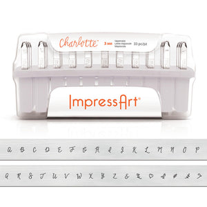 Metal Stamping Tools ImpressArt Uppercase Charlotte Letter Stamp Set 3mm