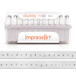 Metal Stamping Tools ImpressArt Lowercase Charlotte Letter Stamp Set 3mm