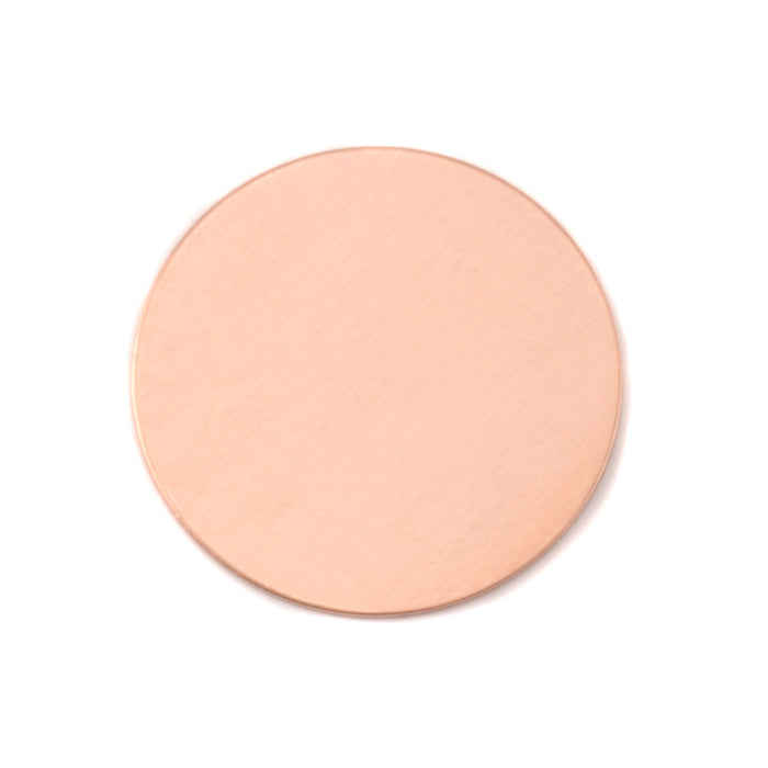 "Copper Round, Disc, Circle, 25mm (1""), 24g, Pack of 5"