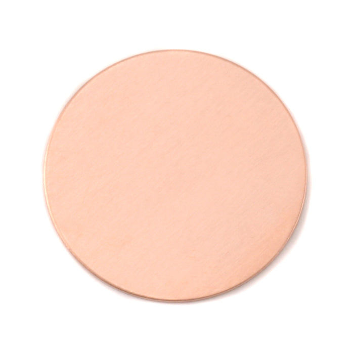 "Copper Round, Disc, Circle, 32mm (1.25""), 24 Gauge, Pack of 5"