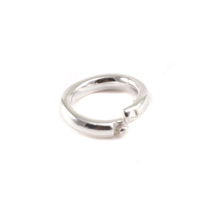 Sterling Silver 6mm I.D. Locking Ring, Pack of 5