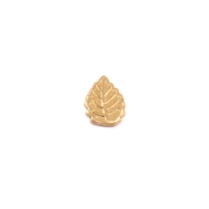 "Brass Leaf Solderable Accent, 7.3mm (.28"") x 5.1mm (.20""), 24g - Pack of 5"
