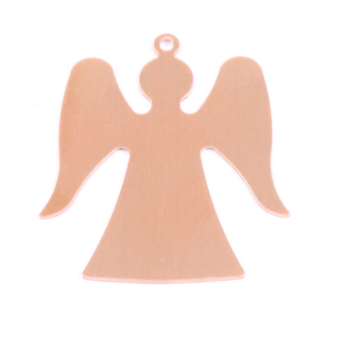 "Copper Angel with Top Loop, 32mm (1.26"") x 29mm (1.12""), 24g"