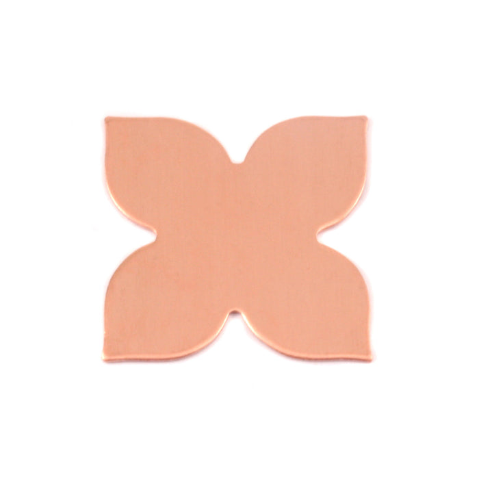"Copper Flower with 4 Petals, 20.5mm (.81""), 24g, Pack of 4"