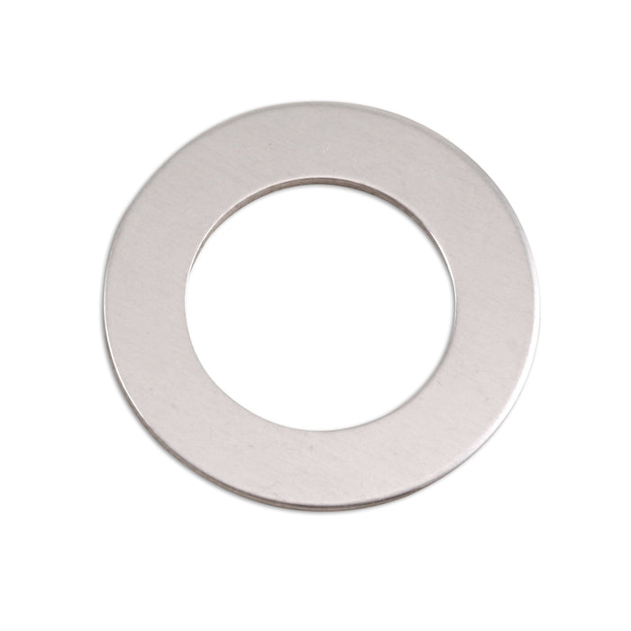 "Aluminum Washer, 25mm (1"") with 16mm (.63"") ID, 18g, Pack of 5"