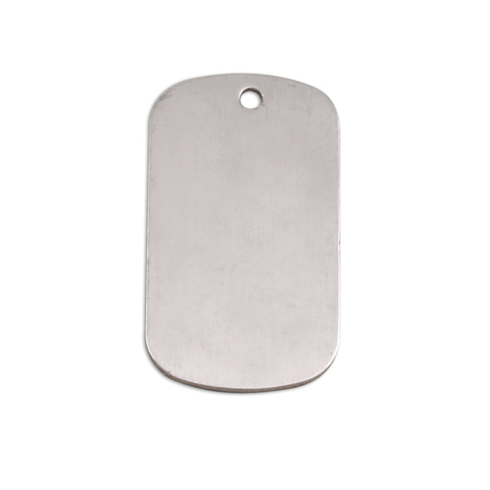 "Aluminum Dog Tag, 29mm (1.14"") x 16mm (.63""), 18g, Pack of 5"