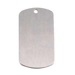 "Metal Stamping Blanks Aluminum Dog Tag with Hole, 35mm (1.38"") x 18mm (.71""), 18g, Pack of 5"