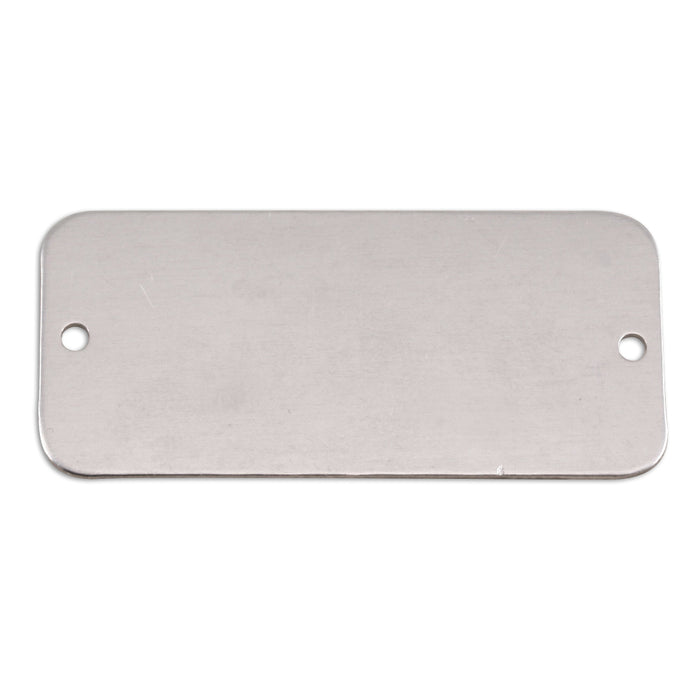 "Aluminum Rectangle with Holes, 44.5mm (1.75"") x 20mm (.79""), 18g, Pack of 5"
