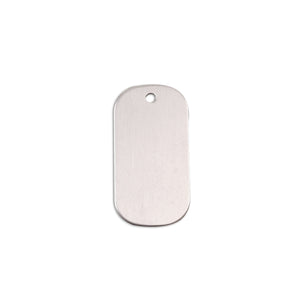 "Metal Stamping Blanks Aluminum Small Dog Tag, 25mm (1"") x 13mm (.51""), 18g, Pack of 5"