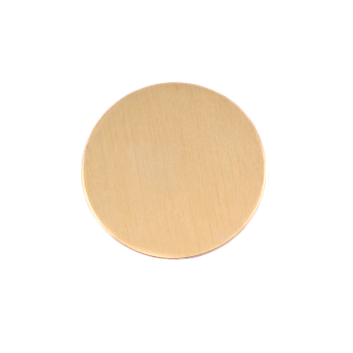 "Brass Round, Disc, Circle, 19mm (.75""), 24g, Pack of 5"