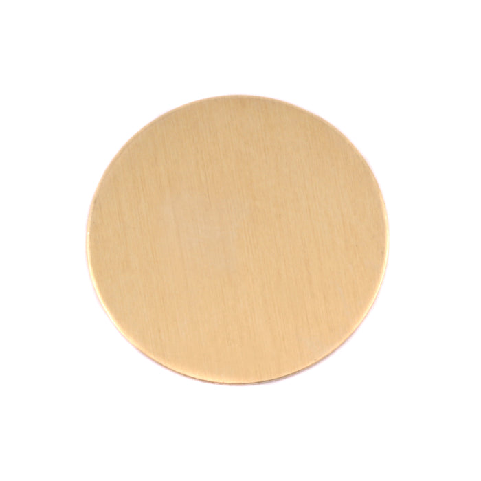 "Brass Round, Disc, Circle, 25mm (1""), 24g, Pack of 5"