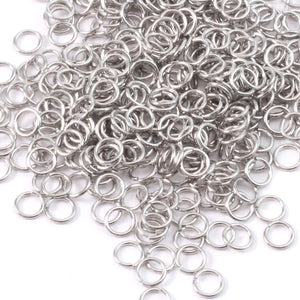 Jump Rings Aluminum 5mm I.D. 16 Gauge Jump Rings, 1/2 oz (~300 rings)