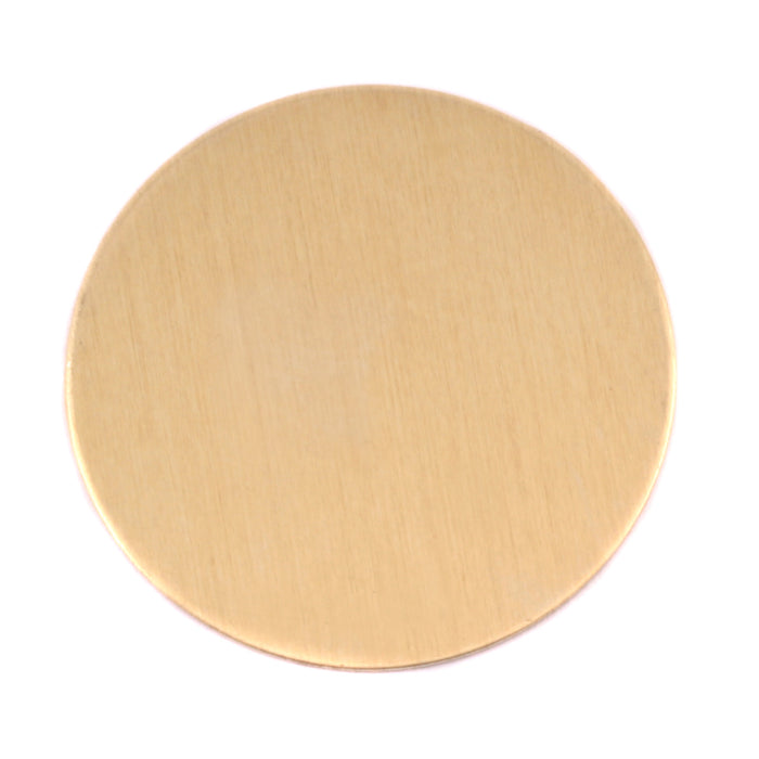 "Brass Round, Disc, Circle, 32mm (1.25""), 24 Gauge, Pack of 5"
