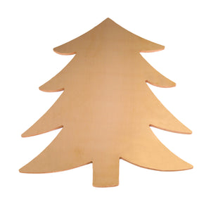 "Metal Stamping Blanks Brass Tree Ornament Blank, 58.4mm (2.3"") x 51.4mm (2.04""), 24g"
