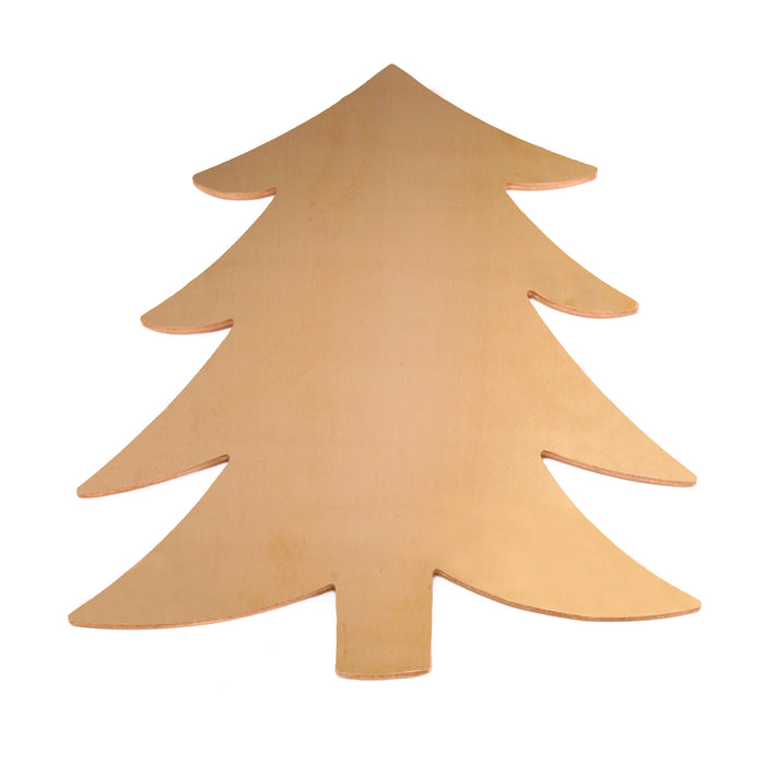 "Brass Tree Ornament Blank, 58.4mm (2.3"") x 51.4mm (2.04""), 24g"