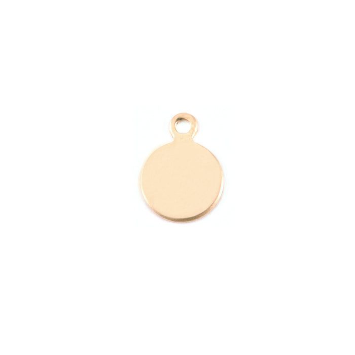 "Gold Filled Round, Disc, Circle with Top Loop, 7.4mm (.29""), 24g"