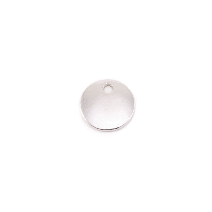 "Sterling Silver Round, Disc, Circle with Hole, 8mm (.31""), 16g, Pack of 5"