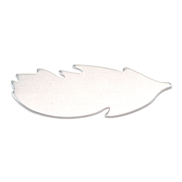 "Aluminum Feather Blank, 40mm (1.57"") x 14mm (.55""), 18 Gauge, Pack of 5"