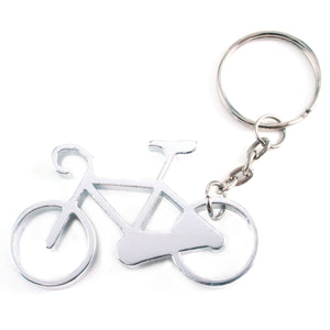 "Metal Stamping Blanks Aluminum Bicycle Bottle Opener Keychain, 57mm (2.24"") x 34mm (1.34"")"
