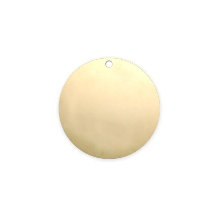 "Gold Filled Round, Disc, Circle with Hole, 16mm (.63""), 22g"