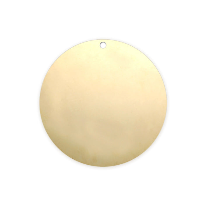 "Gold Filled Round, Disc, Circle with Hole, 19mm (.75""), 22g"