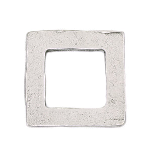 "Metal Stamping Blanks Pewter Square Washer, 18mm (.71"") with 11mm (.43"") ID, 16g"