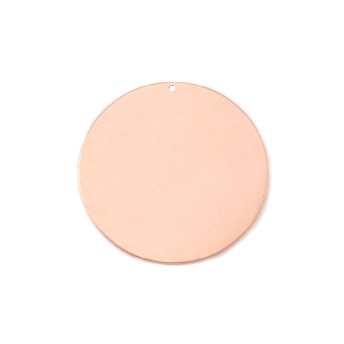 "Copper Round, Disc, Circle with Hole, 22mm (.87""), 24g, Pack of 5"