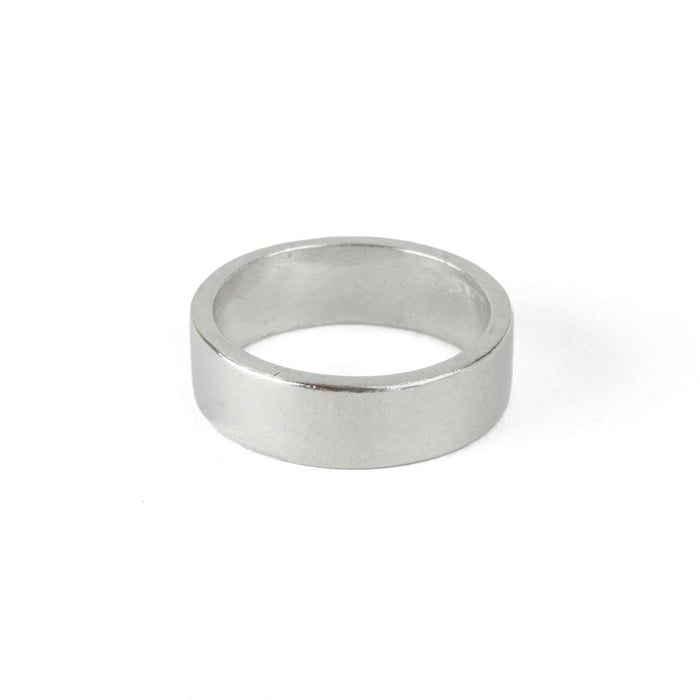 Pewter Ring Stamping Blank, 6mm Wide,  SIZE 6