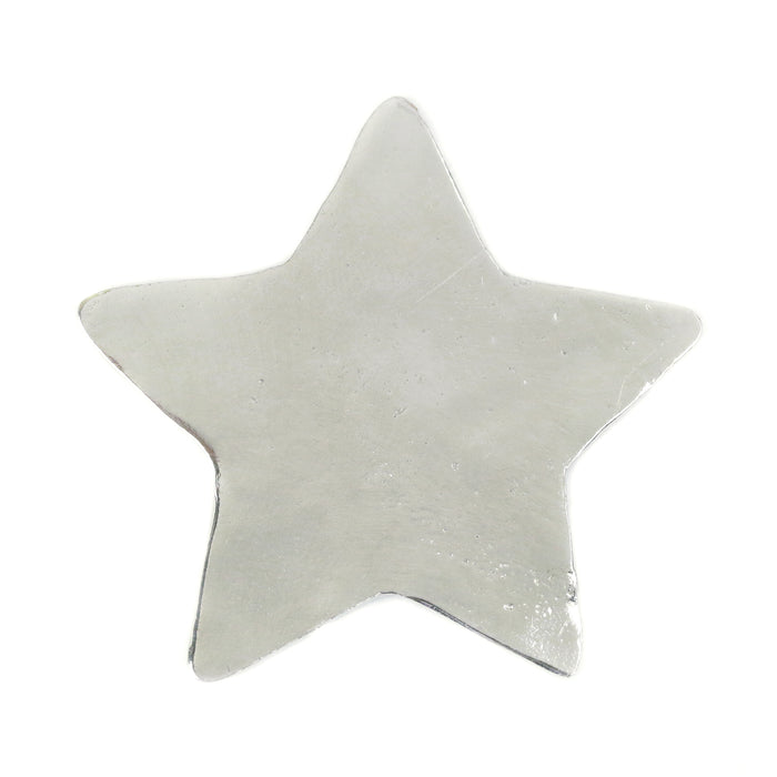 "Pewter Star Ornament Stamping Blank, 61.6mm (2.4""), 16g"
