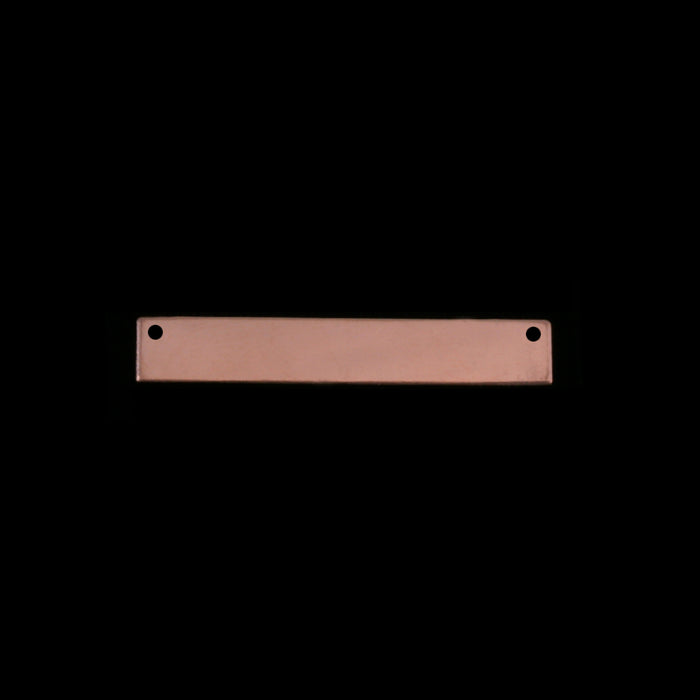 "Rose Gold Filled Rectangle Bar with Holes, 30.5mm (1.20"") x 5mm (.20""), 20g"