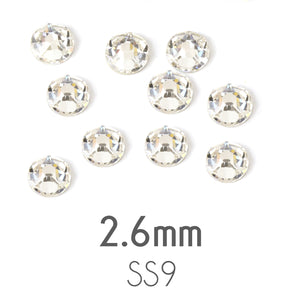 Beads & Swarovski Crystals 2.6mm Swarovski Flat Back Crystals, Crystal, Pack of 20