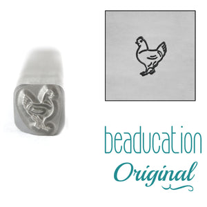 Chicken Facing Left Metal Design Stamp, 5mm - Beaducation Original