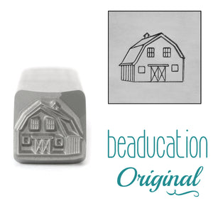 Barn Metal Design Stamp, 11mm - Beaducation Original