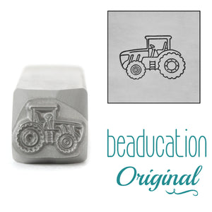 Tractor Facing Left Metal Design Stamp, 11mm - Beaducation Original
