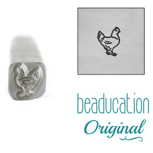 Chicken Facing Right Metal Design Stamp, 5mm - Beaducation Original