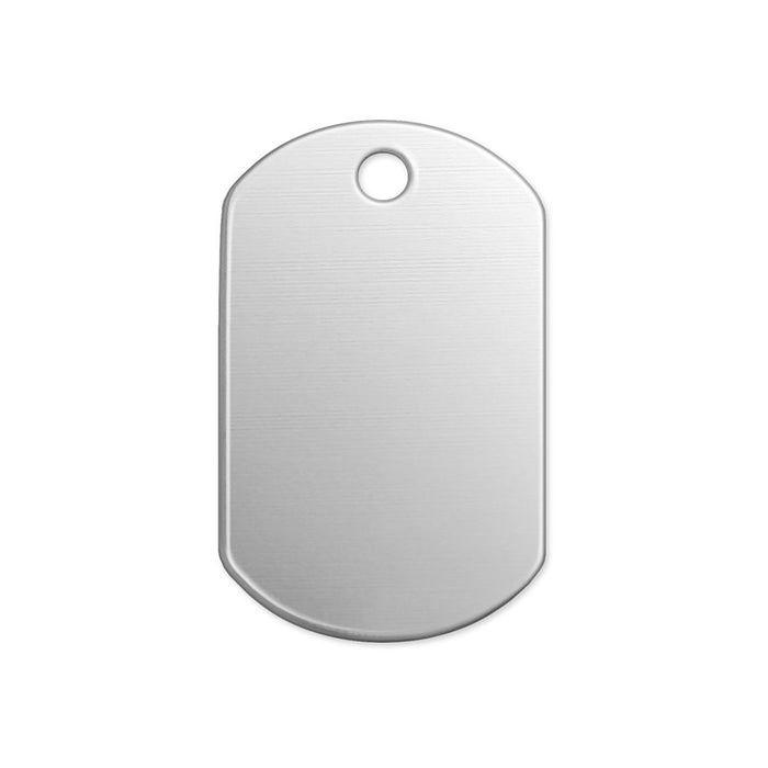 "Alkeme Dog Tag, 32mm (1.25"") x 19mm (.75""), 18 Gauge, Pack of 4"