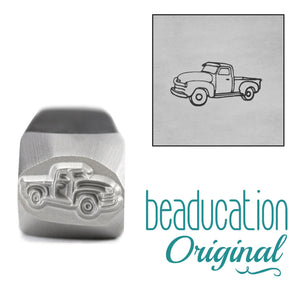 Vintage Truck Driving Left Metal Design Stamp, 11mm - Beaducation Original