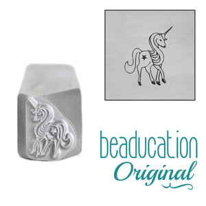 Unicorn Facing Right Metal Design Stamp, 11mm - Beaducation Original