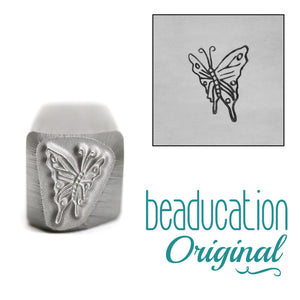 Butterfly Flying Left Metal Design Stamp, 9.5mm - Beaducation Original