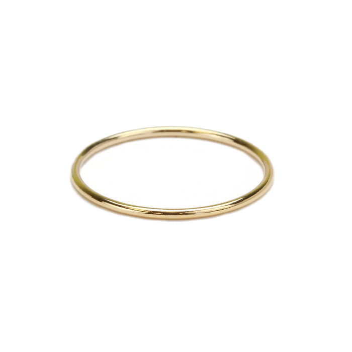 Gold Filled Stacking Ring, SIZE 8