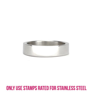 Metal Stamping Blanks Stainless Steel Ring Stamping Blank, 5mm Wide, SIZE 9