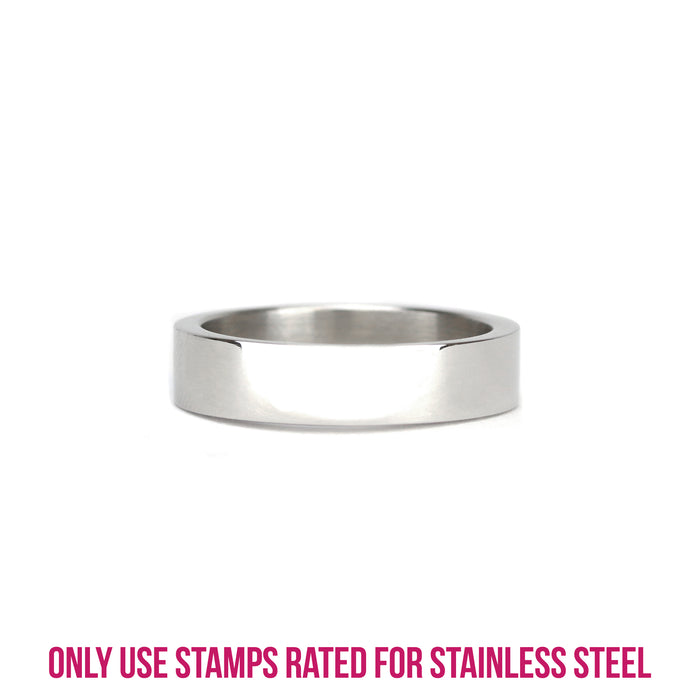 Stainless Steel Ring Stamping Blank, 5mm Wide, SIZE 9