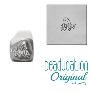 Bee Flying Right Metal Design Stamp, 4.5mm - Beaducation Original